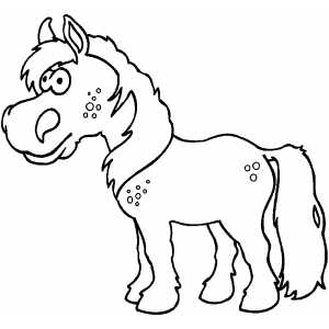 Standing Horse Kid coloring page