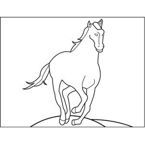 Trotting Horse coloring page