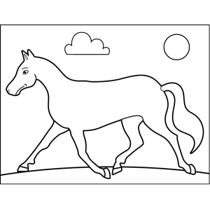 Trudging Horse coloring page