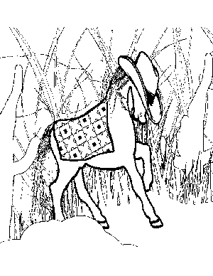 Western Pony Coloring Page