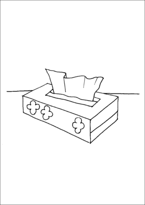 Box Of Tissues coloring page