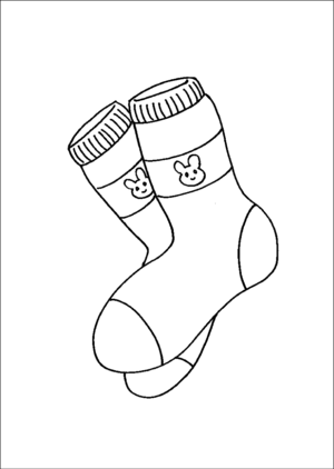 Bunny Socks coloring page
