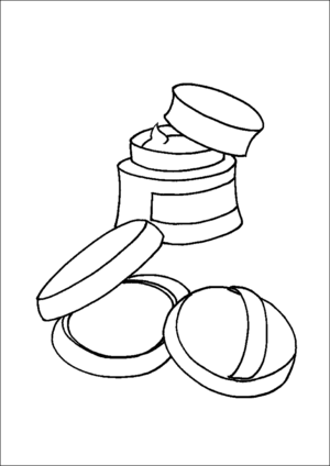 Facial Cream And Makeup coloring page