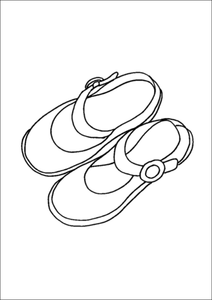 Girls Shoes coloring page