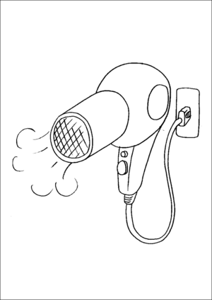 Hair Dryer coloring page