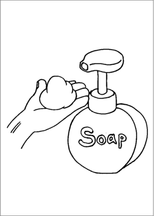 Hand Soap Dispenser coloring page