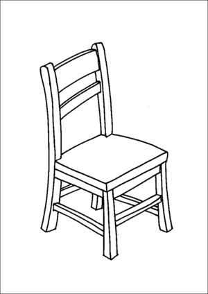 Wooden Chair coloring page