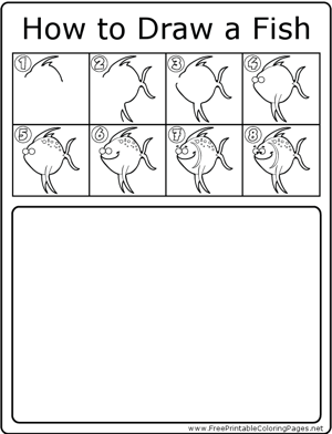 How to Draw Fish-2 coloring page