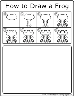 How to Draw Frog coloring page