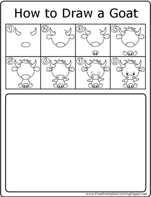 How to Draw Goat coloring page