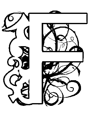 Illuminated-F Coloring Page