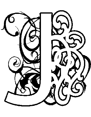 Illuminated-J Coloring Page