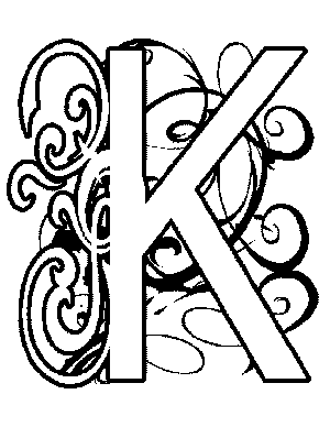 Illuminated-K Coloring Page