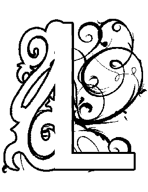 Illuminated-L Coloring Page