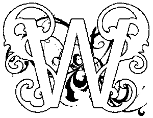 Illuminated-W Coloring Page
