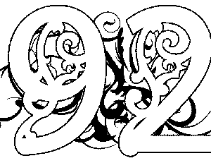 Illuminated-92 Coloring Page