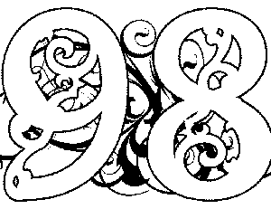 Illuminated-98 Coloring Page
