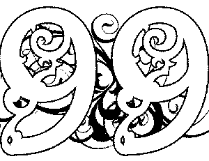Illuminated-99 Coloring Page
