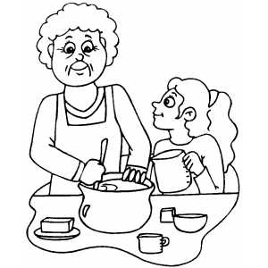 Baking A Cake coloring page