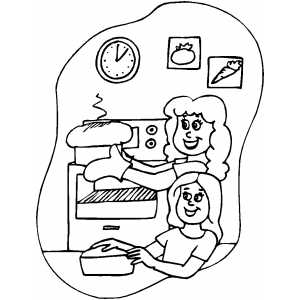 coloring pages of baking - photo#4