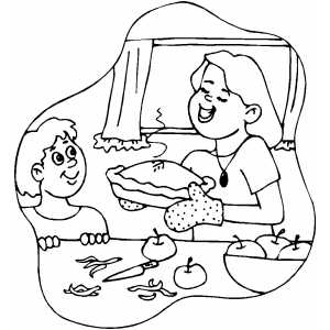 coloring pages of baking - photo#27