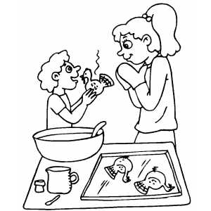 Baking Turkey Cookies coloring page