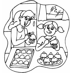 coloring pages of baking - photo#30