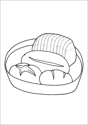 Basket Of Bread coloring page