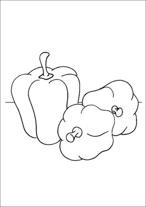 Bell Peppers coloring page