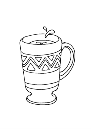 Coffee Cup coloring page