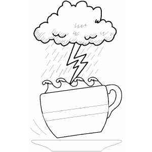 Coffee Stormy coloring page