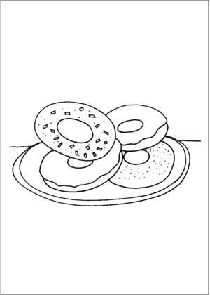 Donuts coloring page