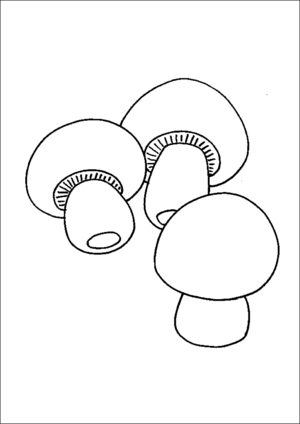 Group Of Mushrooms coloring page