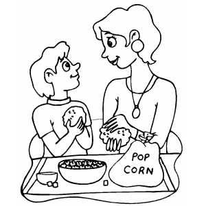 Making Popcorn Balls coloring page