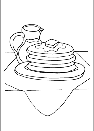 Pancakes And Syrup coloring page