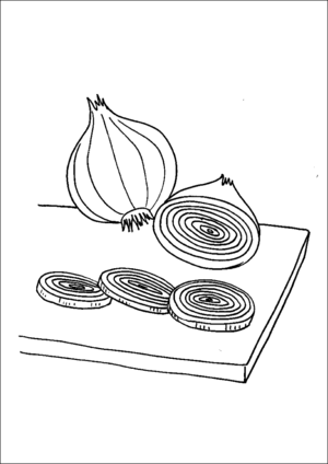 Sliced Onions coloring page