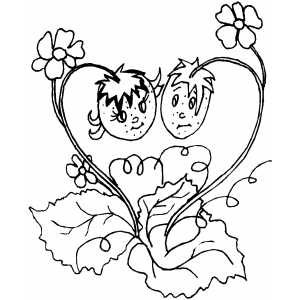 Strawberries 3 coloring page