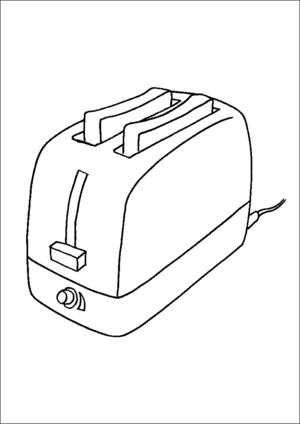 Toaster And Toast coloring page