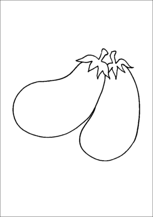 Two Eggplants coloring page