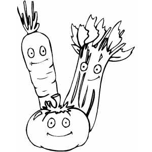 Veggies Smirking coloring page