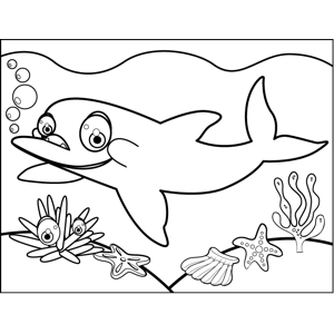 Adorable Dolphin coloring page
