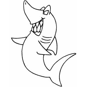 Angry Pointing Shark coloring page