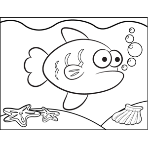 Appalled Fish coloring page
