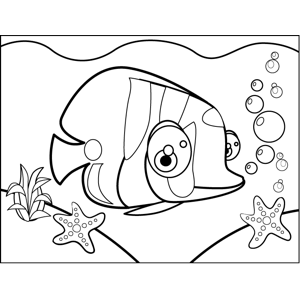 Bug-Eyed Fish coloring page
