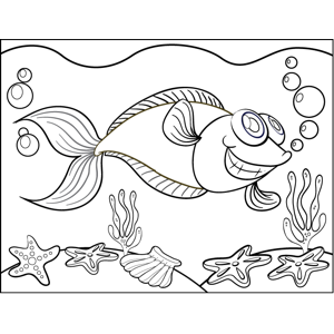 Cheerful Fish coloring page