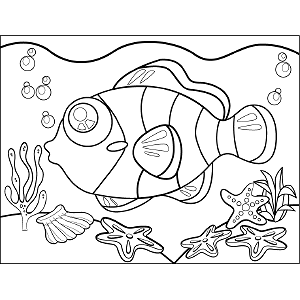 Clown Fish coloring page