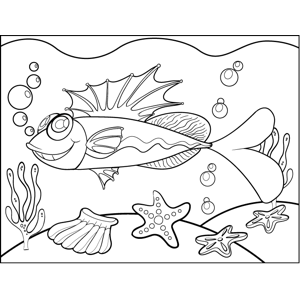 Crazy Fish coloring page