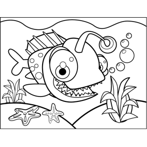 Cute Pilot Fish coloring page