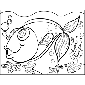 Dazzled Fish coloring page