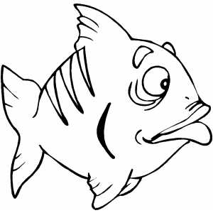 Disappointed Fish coloring page